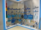 Pool equipment display