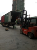 container loading in our factory