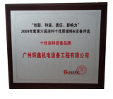 2009 Top 10 Coating Equipment Brand Issued by Huicong