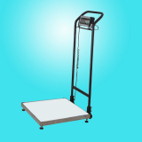 Electronic Weighing Platform Scale with Hand Truck and Wheels 500*500mm (LC TCS-C3 )