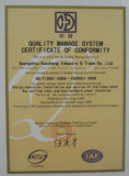 Quality Manage System Certificate