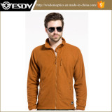 Esdy Lightweight Tactical Autumn Windproof Breathable Grid Fleece Jacket Coat