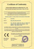 CE (LVD) certificate for dough mixer