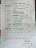 Registration form fo the record of Foreign Trade