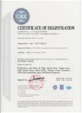 ISO9001 Quality Management Certificate