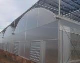 Greenhouse Outside Shade System with Shade Cloth