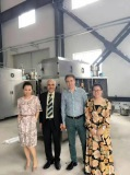 Iran customers visit our factory and order juice fully automatic gable top carton filling machine