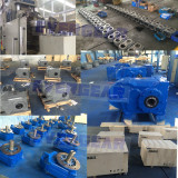 MTP series parallel shaft gear motor in production