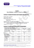msds certificate for 1000mah battery