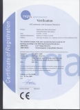 CE Certificate for 0.37-7.5kw SS Motor