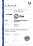 GS Certification of LED Street Light