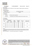 Hotel Bed Runner Flame Resistance SGS Test Report