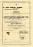 FCC Verification of Conformity of Solar Street Lights