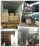 Loading SHUNLI 4 Post Lift and Small Scissor Lift