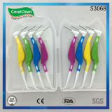 Oral dental care interdental brush combined with toothpick