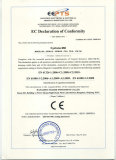 EC declaration of conformity of Cyclone Mill
