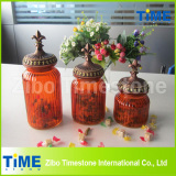 Color Sprayed Storage Glass Jar