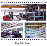 Sheet metal production and power spraying center