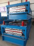 Britain client choose our double layer roll forming machine