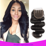 Grade 8A 100% unprocessed virgin hair Closure 4*4inch No tangle No shedding