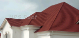 Classic type red colour house roof