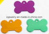 Cheap Uluminium Jewelry Different Color Plated Bone Dog Tags