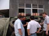 Customers′ visiting about our pneumatic rubber fenders