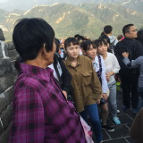 Travelling in GREAT WALL in Beijing on October