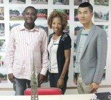 Our Sales Manager Mr. William receives Zimbabwe customer Mr. Harris and his wife Mrs. Harris(builder