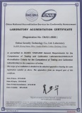 Laboratory Accreditation Certificate