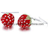 Factory Price Crystal Strawberry Earrings