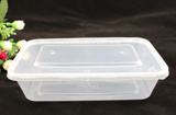 Rectangular plastic disposable microwave food container