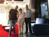The customers visiting our showroom