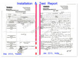 Installation and test report 1