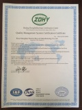 QUALITY MANAGEMENT SYSTEM CERTIFICATION CERTIFICATE