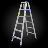 A shape thickened folding aluminum double ladder wholesale