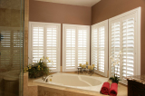 wood or PVC plantation shutter