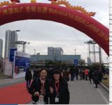 with chanke worker to attend the SIGN CHINA in guangzhou on 2014