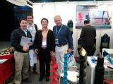 Photoes with customer in Bauma show