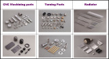 CNC Machining & Turning Parts and Radiator Samples
