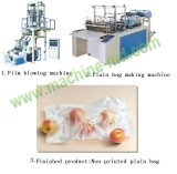 non-printed flat bag making machine line