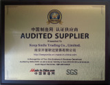 SGS - Audited Supplier 2013