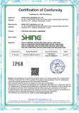 IP68 waterproof certification for LED street light and LED flood light