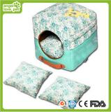 New Design Portable Square Pet House&Bed with Floral Pattern