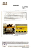 Certificate SGS for H20 timber beam