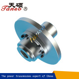 Gear coupling with brake wheel