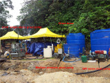 grout mixer and pump was doing grouting job in Malaysia
