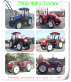 70hp to 85hp Farm wheel Tractor