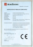 CE certificate for honeycomb machine