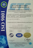 ISO9001 CERTIFICATE FOR FURNITURE
